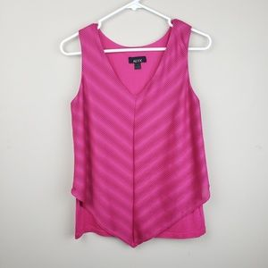 Alyx | Pink Chevron Detailed Sleeveless Blouse